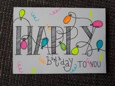 Gezellige verjaardagskaart voor en tiener.