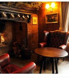 Fireplace in Pub