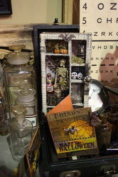 Halloween Shadowbox - Tim Holtz booth at CHA