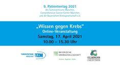 Einladung 9. Patiententag 2021des Tumorzentrums München Centre, Invitations, First Aid, Healthy, Knowledge