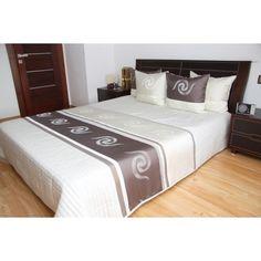 Luxusní přehozy na postel v bílé barvě s proužky a ornamenty - dumdekorace.cz Bed Sheets, Pillows, Bedroom, Furniture, Home Decor, Decoration Home, Room Decor, Bedrooms, Home Furnishings