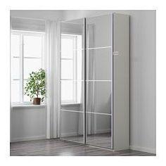 Ideas Bedroom Wardrobe White Ikea Pax For 2019 White Sliding Door Wardrobe, Ikea Sliding Door, Mirrored Wardrobe Doors, Ikea Pax Wardrobe, White Closet, Bedroom Wardrobe, Wardrobe Ideas, Closet Ideas, Ikea White Wardrobe