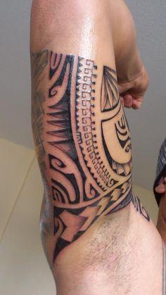 Inner Arm Tattoo Polynesian Style by Henua Tiki Tattoo