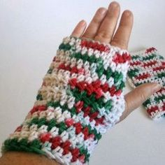 One-Hour Wrist Warmers  Maybe I could chain 20 to make them smaller