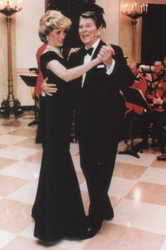 Dancing with President Reagan at the White House. Nov, 1985