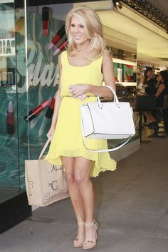 Gretchen Rossi, star of Real Housewives of Orange County shops at MAC Cosmetics in Los Angeles