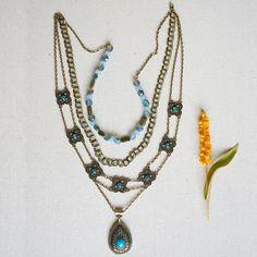 Nicole's #Bead Shop Blue #Bohemian #Necklace #jewelry #DIY