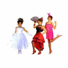 Butterick 3660 Sewing Pattern Princess Flapper Flamenco Spanish Dancer Childrens Girls Costume