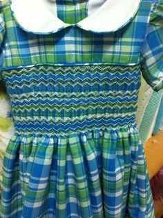 Detallé vestido.  Alumna sept 2015