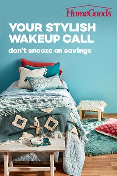 Mix and match ideas for master bedrooms, dorm rooms, kids rooms, and everything in between. Customize your bedroom décor with savings that allow you to make it your own. Dorm Rooms, Kids Rooms, Bed Styling, Painted Furniture, Furniture Ideas, Industrial Furniture, Comforters, Home Goods, Bedroom Decor