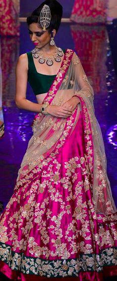 Pink And Black Lehenga Choli,wedding lehenga choli,party wear lehenga choli Indian Wedding Outfits, Bridal Outfits, Indian Outfits, Bridal Dresses, Indian Clothes, Lehenga Choli Wedding, Lehenga Style, Black Lehenga, Heavy Lehenga