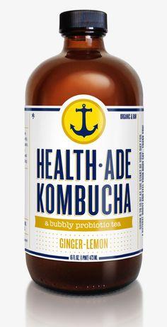 Ginger Lemon Health Ade Kombucha   Organic beverages at your convenience @thesunboxmarket