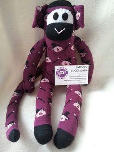 Sock monkey from Facebook. Com/snugglysockimals