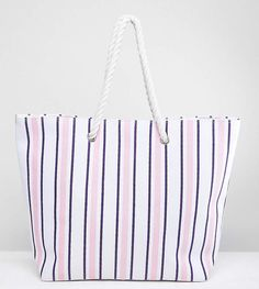 3b0003328c South Beach Navy   Blush Stripe Beach Bag. Disclosure  My pins are  affiliate links
