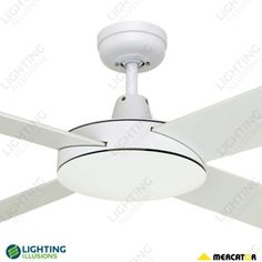 White + 3 Year Warranty Martec Lifestyle Ceiling Fan No Light - Martec Ceiling Fans - Ceiling Fans By Brand - Ceiling Fans - Shop - Lighting Illusions Online 129 . 179 at beacin Marine Plywood, 52 Ceiling Fan, Shop Lighting, Modern Design, Illusions, Lifestyle, Kids Room, Houses, Marine Grade Plywood