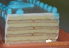 Recept za Brzu tortu sa keksom. Za spremanje torte neophodno je pripremiti keks, mleko, puding, šećer, margarin, mleko u prahu, šlag.