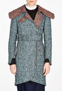 Contrast Collar #Tweed Coat by Carven