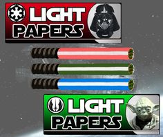 this is too ridiculous not to post. light sabers rolling papers
