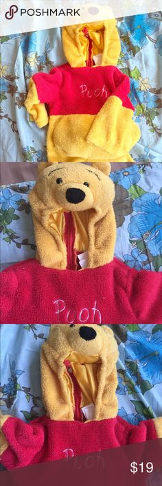 Winnie the Pooh Unisex Costume Winnie the Pooh Unisex Costume Zipper Back Closure Extra Soft and Comfy Inner Liner 🚫PayPal 🚫Trades Winnie the Pooh Costumes Halloween