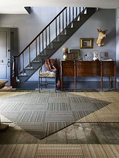 Getting creative with gorgeous carpet tiles.