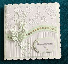 Free embossing folder and tattered lace butterfly die .