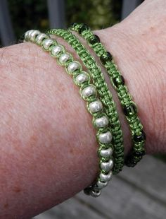 three macrame bracelets- more ideas