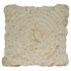 Petal Swirl Pillow in Cream at Joss & Main