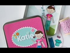 Papertrey Ink New Product Intro: Dress Up Dolls Basics + Magnetic Paper Doll How-to - YouTube