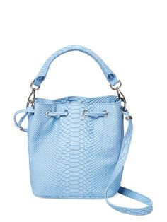 Alix Python Embossed Leather Bucket Bag by Emily Cho at Gilt