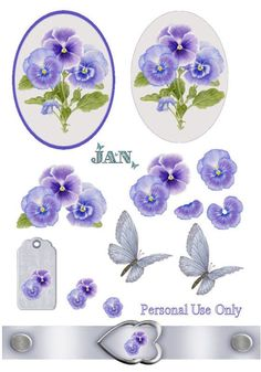 Blue butterfly: Roles For Decoupage 3d Paper Projects, Paper Crafts, Flower Cards, Paper Flowers, Image 3d, Free Image, Baby Shower Clipart, Project Life Scrapbook, Decoupage Printables
