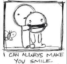Trying to make someone smile like....