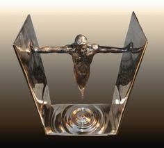 Original Culture Sculpture by Linda Saskia Menczel Abstract Sculpture, Bronze Sculpture, Sculpture Art, Surreal Art, Geometric Art, Surrealism, Watercolor Art, Buy Art, Design Art