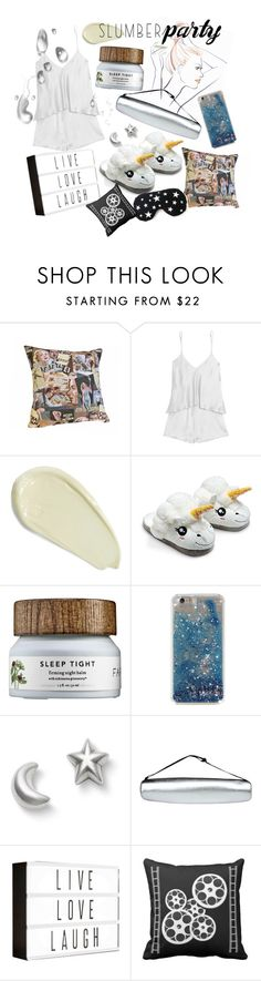 """""""#slumberparty"""" by bryanmiranda02 ❤ liked on Polyvore featuring BACK Label, Omorovicza, Meissen, Pijama and slumberparty"""