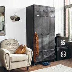 gray metal vintage locker