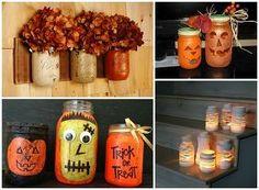 fall decor mason jar inspiration, crafts, home decor, lighting, mason jars, repurposing upcycling