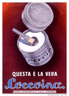 """This is the real Coccoina"""" - advertising posters Advertising Slogans, Vintage Advertising Posters, Vintage Advertisements, Vintage Labels, Vintage Ads, Vintage Signs, Vintage Prints, Vintage Italian Posters, Poster Vintage"""