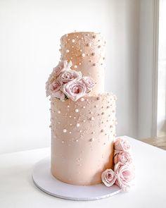 2 Tier Birthday Cakes, 2 Tier Wedding Cakes, Bithday Cake, 21st Birthday, 30th Anniversary Cake, Pearl Anniversary, Anniversary Ideas, Wedding Anniversary, Elegant Cake Design