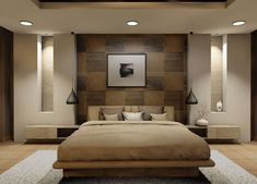 Comfy Relaxing Bedroom Design Ideas Luxury Home - Page 22 of 25 Bedroom Closet Design, Bedroom Furniture Design, Rustic Master Bedroom, Bedroom Decor, Bedroom Bed Design, Simple Bedroom, Ceiling Design Bedroom, Luxurious Bedrooms, Modern Master Bedroom Design