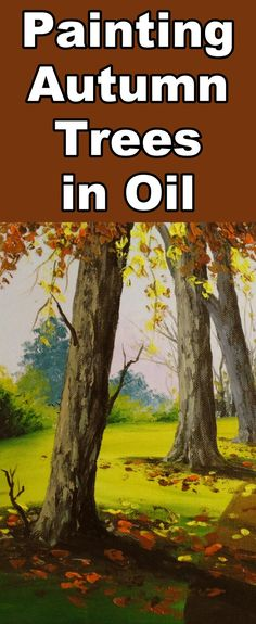 Learn to paint Autumn trees with this acrylic painting tutorial