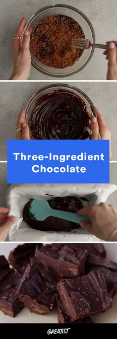 And we thought chocolate couldn't possibly get any better. #how #to #make #your #own #chocolate http://greatist.com/eat/homemade-chocolate-recipe-video