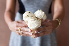 Beer ice cream with seed brittle