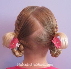 Rubber Band Wraps hair tutorial on the Babes in Hairland blog using the Pink Clouds Gimme Clips.