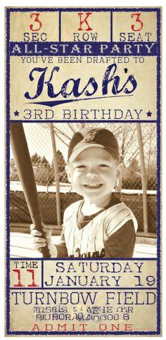 All star grad party Baseball Theme Birthday, Sports Birthday, Sports Party, 4th Birthday Parties, Boy Birthday, Birthday Ideas, Theme Parties, 1st Birthdays, Baseball Invitations
