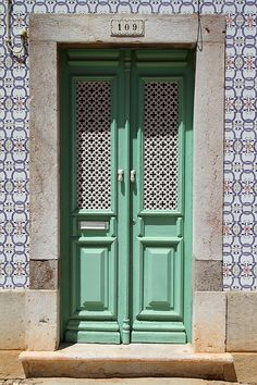 At the Green door, enter. Door Entryway, Porch Entry, Entry Doors, Architectural Features, Architectural Elements, Old Doors, Windows And Doors, Monuments, Open Door Policy