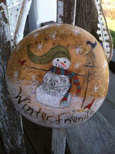 Snowman Canteen Gourd