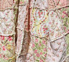 Shabby Chic Rag Quilt Rose Garden Twin Size by SeasonOfTheStitch, $450.00