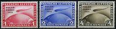 Dt. Reich Zeppelin Polarfahrt 1931 Michel 456-458