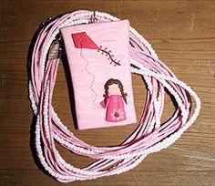 "Collar con Dije de Nia Rosa (""creativARTE: Detalles en plastilina"") Tags: fimo clay plastilina polyner creativarte"