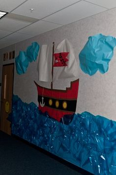 Back to School Hallways/Bulletin Boards Classroom Displays, Classroom Themes, Classroom Design, Music Classroom, Pirate Day, Pirate Theme, Beginning Of The School Year, Back To School, Hallway Bulletin Boards