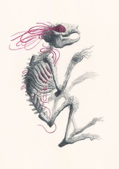 We love the bones of Nick Sheehy's energetically macabre Metamorphosis...  http://www.weheart.co.uk/2014/06/03/nick-sheehy-metamorphosis-at-atomica-gallery-london/